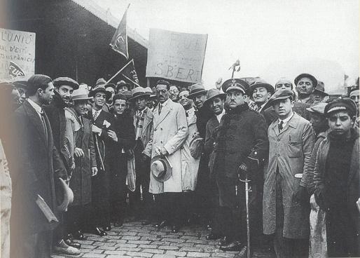 Antoni Maria Sbert torna a Barcelona després d'haver-se exilat durant la Dictadura de Primo de Rivera el 7 de febrer de 1930 - foto AF-AHC